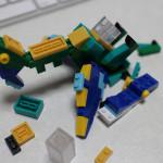 ナノブロックプラスモニター企画:その3。2体を合体させて、オリジナルを組んでみた。